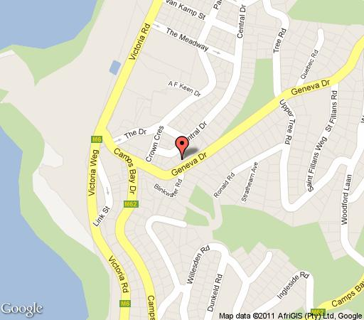 Map 17 Geneva; Upper in Camps Bay  Atlantic Seaboard  Cape Town  Western Cape  South Africa