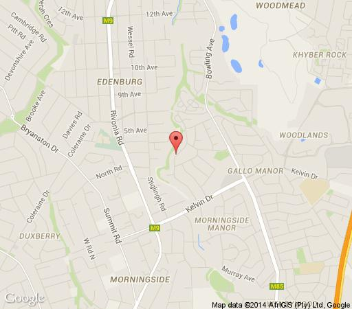 Map Thatchfoord Lodge in Sandton Central  Sandton  Johannesburg  Gauteng  South Africa