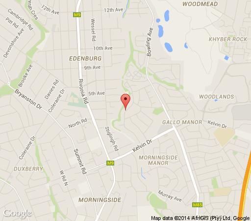 Map Thatchfoord Lodge in Sandton Central  Sandton  Johannesburg  Gauteng  Afrique du Sud