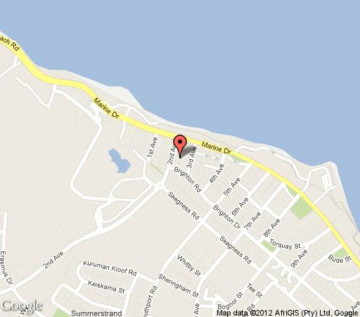 Map No. 5 Boutique Art Hotel in Summerstrand  Port Elizabeth  Cacadu (Sarah Baartman)  Eastern Cape  South Africa