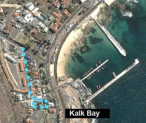 Map Theresa\'s at Kalk Bay in Kalk Bay  False Bay  Cape Town  Western Cape  South Africa