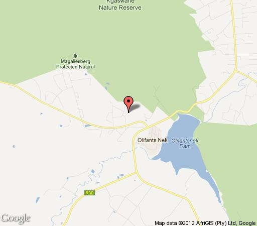 Map Hodge Podge Backpackers in Rustenburg  Bojanala  North West  South Africa
