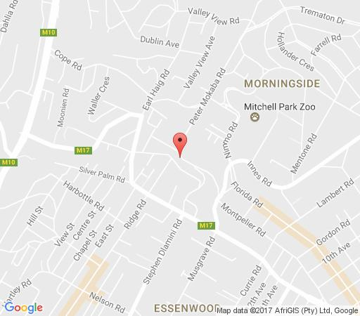 Map Lembali Lodge in Morningside (DBN)  Durban  Durban and Surrounds  KwaZulu Natal  South Africa