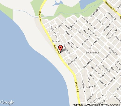 Map Leonahof Beach Flat in Strand  Helderberg  Western Cape  South Africa