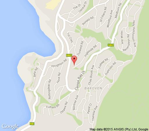 Map Cape Blue in Camps Bay  Atlantic Seaboard  Cape Town  Western Cape  South Africa