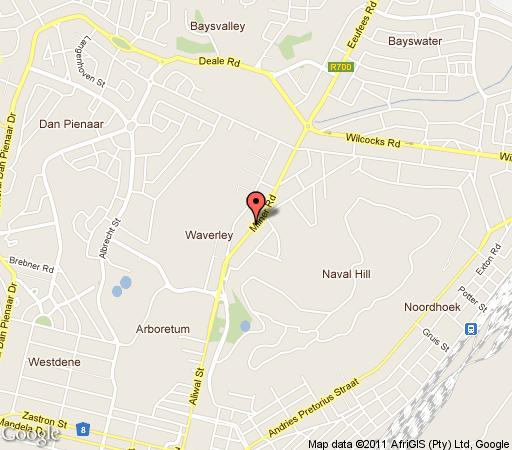 Map The Milner House in Bloemfontein  Mangaung  Free State  South Africa