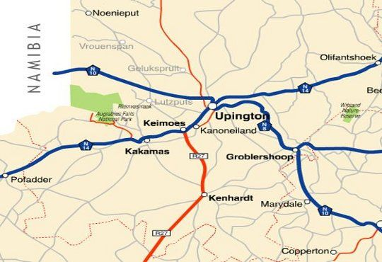 Map Ou Skool Guesthouse in Keimoes  Green Kalahari  Northern Cape  South Africa