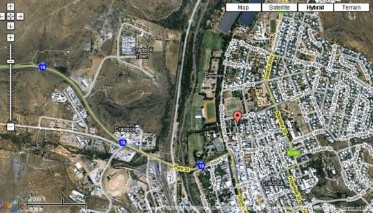 Map Annies Guest House in Cradock  Stormberg District  Eastern Cape  South Africa