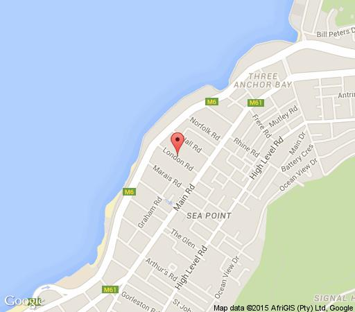 Map The Hyde All-Suite Hotel in Sea Point  Atlantic Seaboard  Cape Town  Western Cape  South Africa