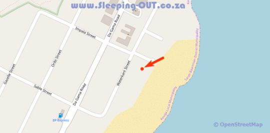 Map On The Beach Guesthouse and Suites in Jeffreys Bay  Cacadu (Sarah Baartman)  Eastern Cape  South Africa