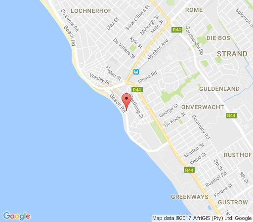 Map De Merindol Luxury Apartments  in Strand  Helderberg  Western Cape  Afrique du Sud