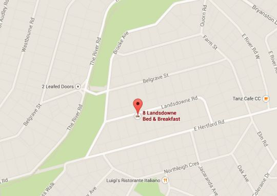 Map 8 Landsdowne Bed & Breakfast in Bryanston  Sandton  Johannesburg  Gauteng  South Africa
