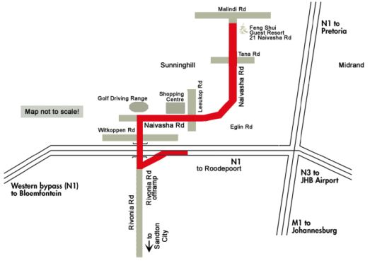 Map Feng Shui  in Sunninghill  Sandton  Johannesburg  Gauteng  South Africa