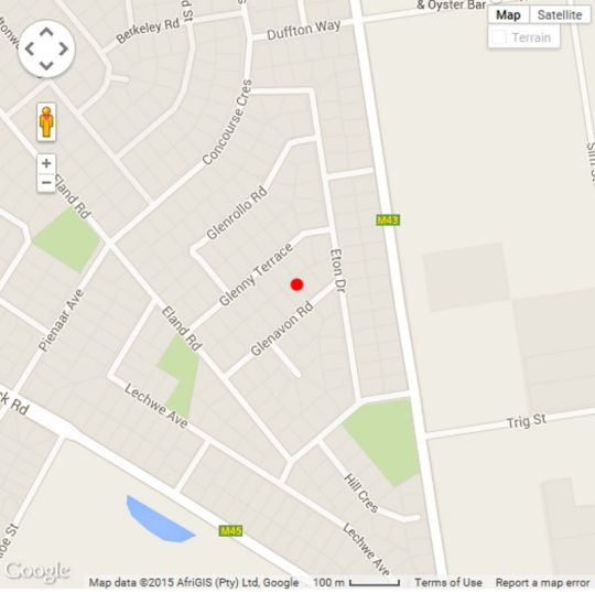 Map Bundo Guest House in Kempton Park  Ekurhuleni (East Rand)  Gauteng  South Africa