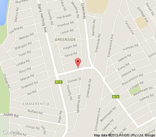 Map Shades Of Green in Greenside  Northcliff/Rosebank  Johannesburg  Gauteng  South Africa