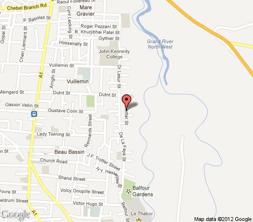 Map Villa Beau Soleil in Roches Noires  Mauritius