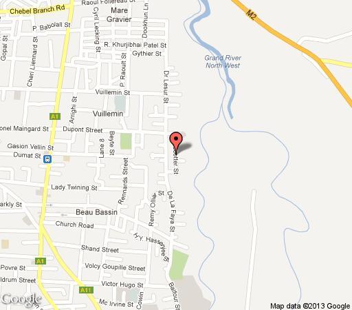 Map Villa Hibiscus in Trou aux Biches  Mauritius