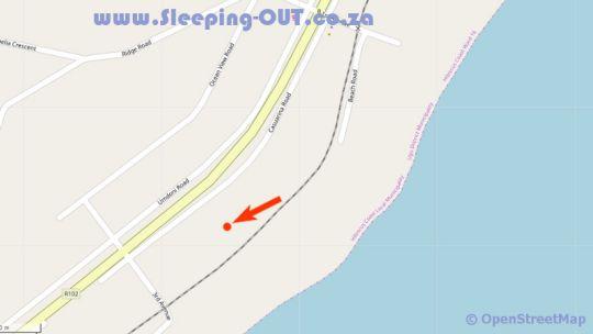 Map Beach Break Holiday House in Port Shepstone  South Coast (KZN)  KwaZulu Natal  South Africa