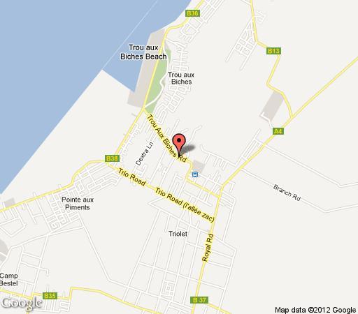 Map Villa Tour Blanche in Trou aux Biches  Mauritius