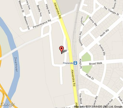 Map Riverlodge Backpackers in Pinelands  Southern Suburbs (CPT)  Cape Town  Western Cape  South Africa