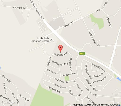 Map Loeries Nest B&B in Little Falls  Roodepoort  West Rand  Gauteng  South Africa