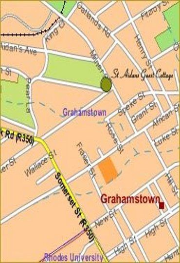 Map 1A St. Aidens Guest Cottage in Grahamstown  Cacadu (Sarah Baartman)  Eastern Cape  South Africa