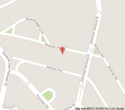 Map Brebner Place in Bloemfontein  Mangaung  Free State  South Africa