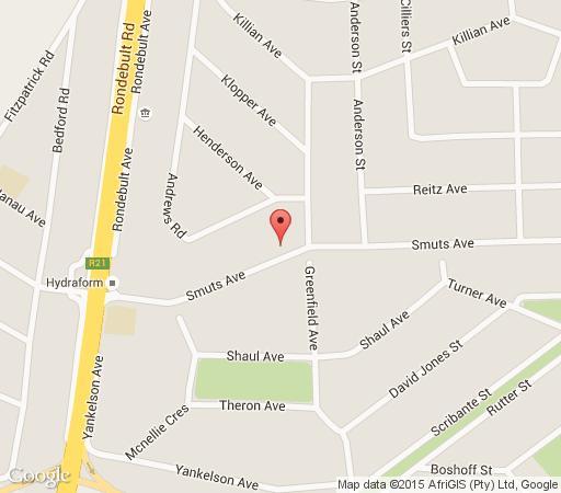 Map Angelica Guesthouse in Boksburg  Ekurhuleni (East Rand)  Gauteng  South Africa