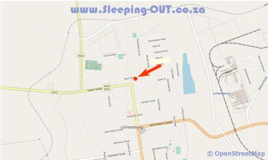 Map Vianto Overnight in Lichtenburg  Central (NW)  North West  South Africa