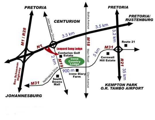 Map Leopardsong Manor in Centurion Central  Centurion  Pretoria / Tshwane  Gauteng  South Africa