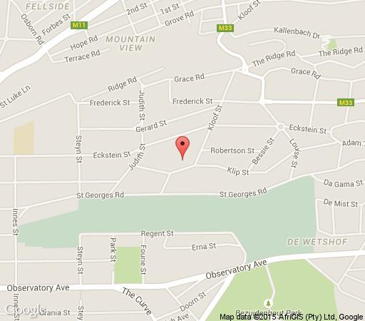 Map Suburbian Lodge in Observatory (JHB)  Northcliff/Rosebank  Johannesburg  Gauteng  South Africa