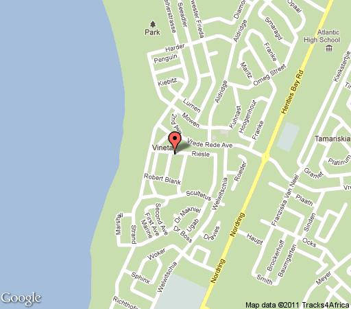 Map DeoVilla Self Catering Accommodation in Swakopmund  Erongo  Namibia