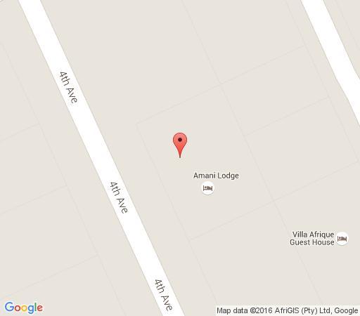 Map Amani Guest Lodge in Walmer  Port Elizabeth  Cacadu (Sarah Baartman)  Eastern Cape  South Africa