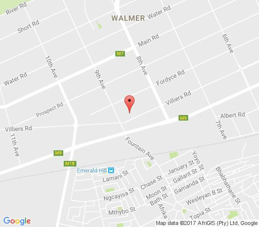 Map African Aquila Self Catering in Walmer  Port Elizabeth  Cacadu (Sarah Baartman)  Eastern Cape  South Africa