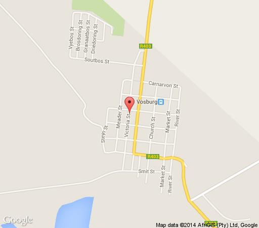 Map Die Katte in Vosburg  Upper Karoo  Northern Cape  South Africa