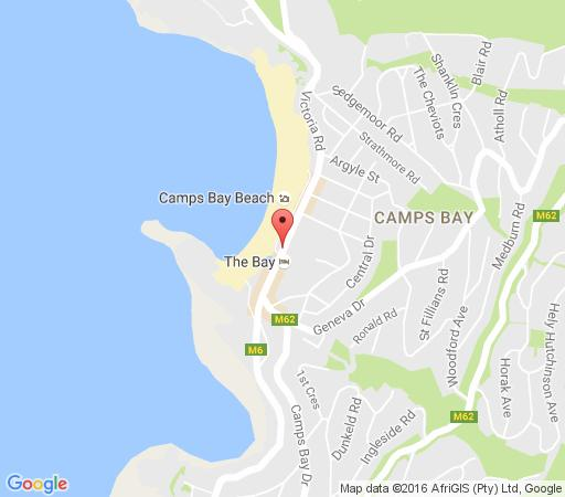 Map The Bay Hotel  in Camps Bay  Atlantic Seaboard  Cape Town  Western Cape  South Africa