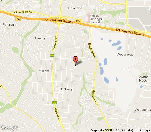 Map Shaka Guest House in Sandown  Sandton  Johannesburg  Gauteng  South Africa