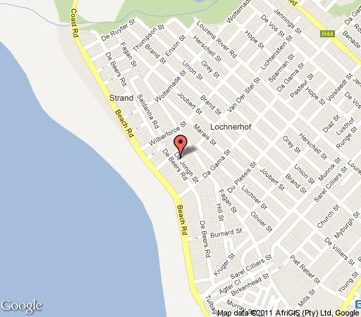 Map Villa the President in Strand  Helderberg  Western Cape  South Africa