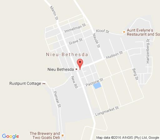 Map Bethesda Tower  in Nieu Bethesda  Cacadu (Sarah Baartman)  Eastern Cape  South Africa