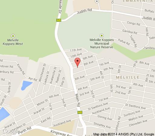 Map Blu Trea in Melville (JHB)  Northcliff/Rosebank  Johannesburg  Gauteng  South Africa