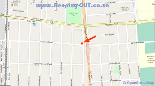 Map Nathier\'s Place in Rondebosch  Southern Suburbs (CPT)  Cape Town  Western Cape  South Africa