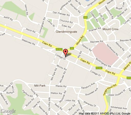 Map 50 College Drive B & B in Mill Park  Port Elizabeth  Cacadu (Sarah Baartman)  Eastern Cape  South Africa