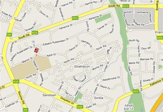 Map Marion Lodge in Sandton Central  Sandton  Johannesburg  Gauteng  South Africa