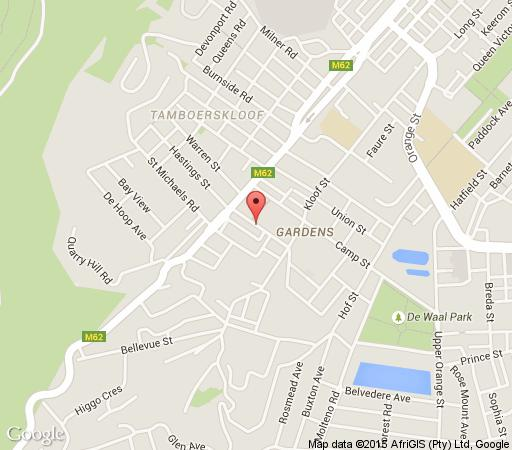 Map Liberty Lodge in Tamboerskloof  City Bowl  Cape Town  Western Cape  South Africa