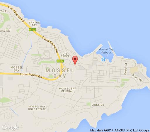 Map Edward Charles Manor  in Mossel Bay  Garden Route  Western Cape  South Africa