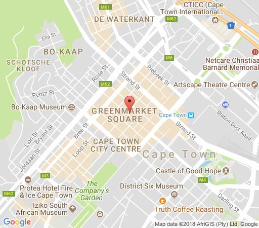 Map Greenmarket Place 1 in Cape Town CBD  City Bowl  Cape Town  Western Cape  South Africa