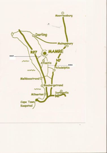 Map Twin Gables Guest House in Mamre  Swartland  Western Cape  South Africa