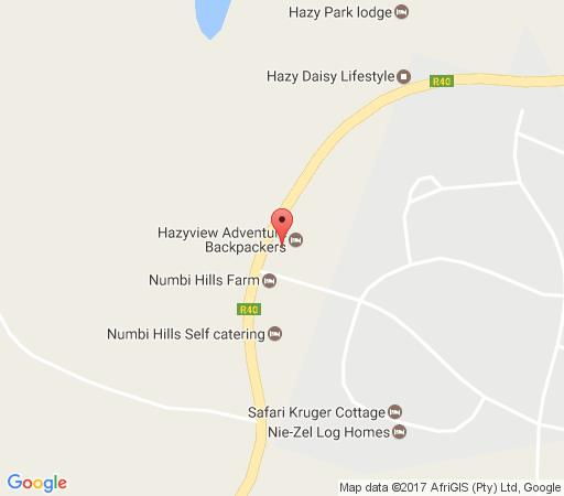Map Hazyview Adventure Backpackers in Hazyview  The Panorama  Mpumalanga  South Africa