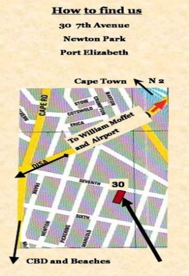 Map Amanzi Guest House in Newton Park  Port Elizabeth  Cacadu (Sarah Baartman)  Eastern Cape  South Africa
