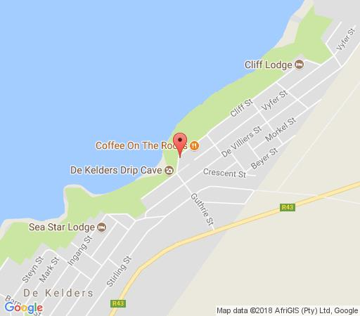 Map The Lookout at Whale Cove in De Kelders  Overberg  Western Cape  Zuid-Afrika